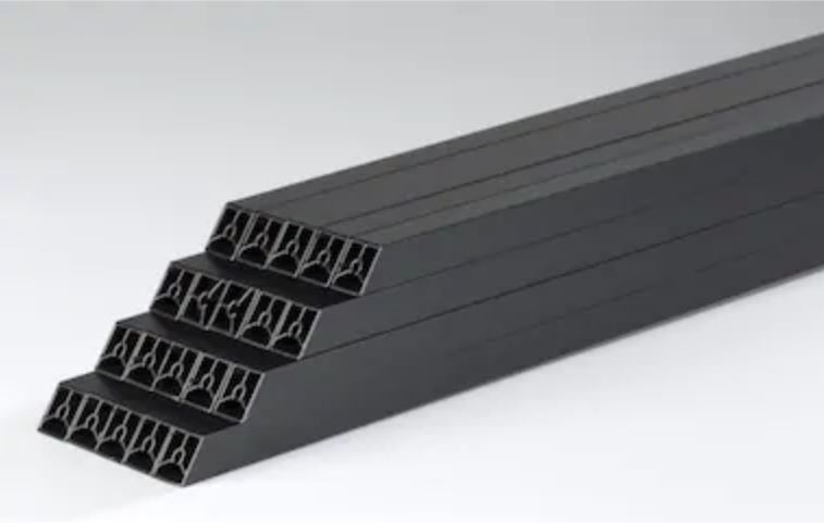 "TimberTech Azek Baluster 18 Pack RadianceRail 29/"" Black Square Composite"